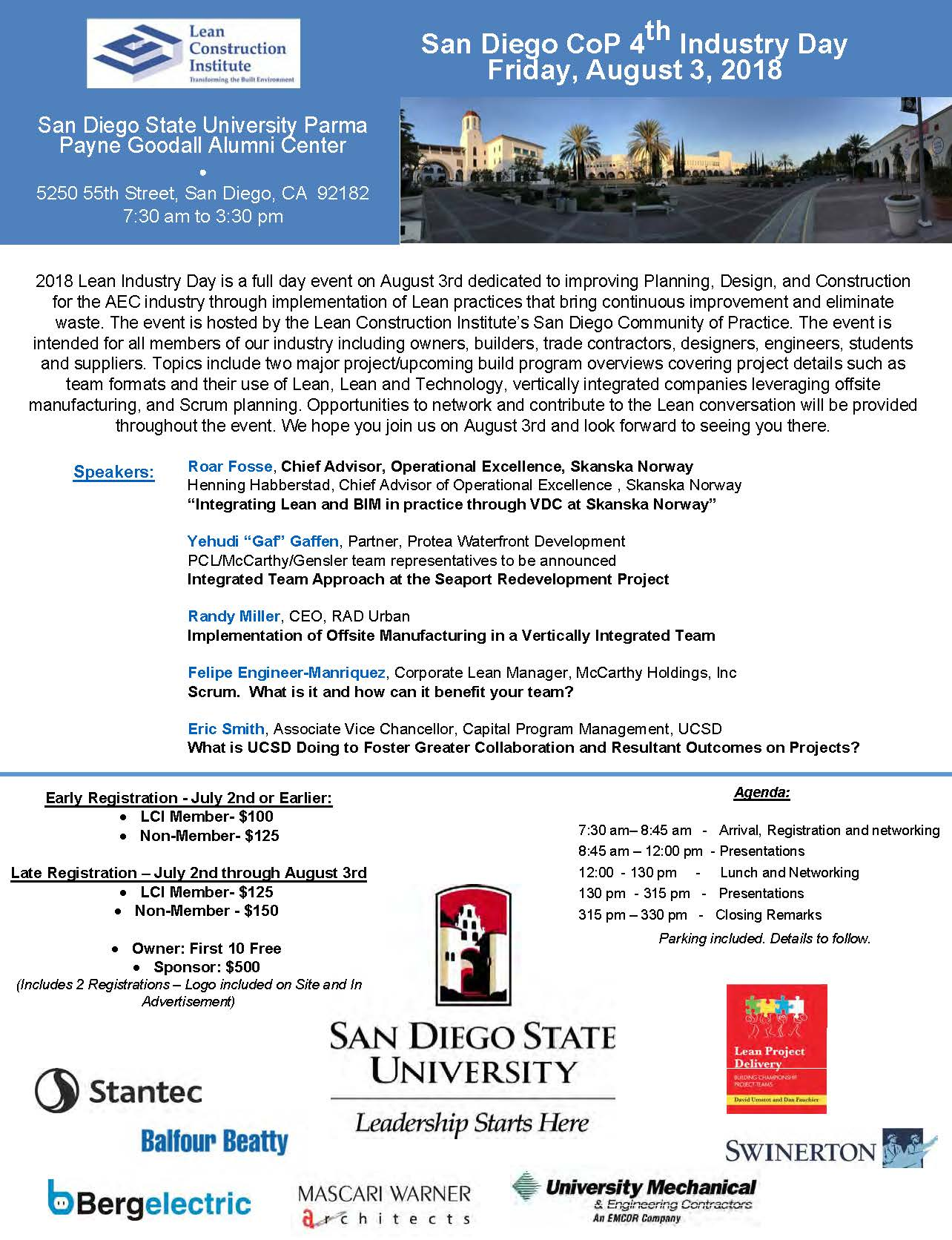 4th Industry Day (San Diego CoP) @ San Diego State University Parma Payne Goodall Alumni Center | San Diego | California | United States