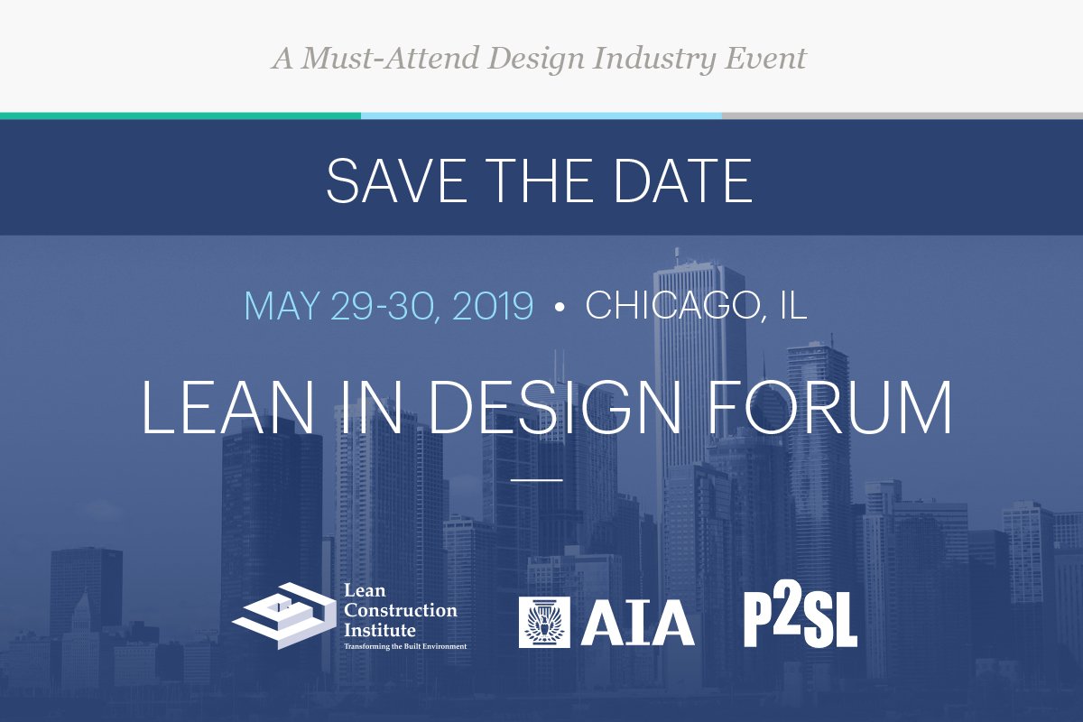 2019 Design Forum Save the Date!